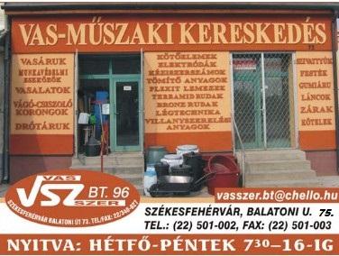 Vas-Műszaki-Vegyiáru Kereskedés - VAS-SZER-96 Bt.